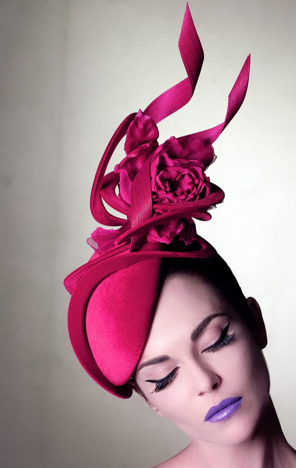 Sandro Hyams Philip Treacy Pink Hat