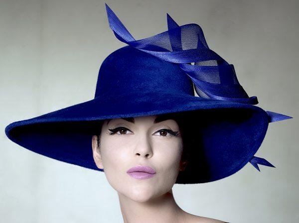 Sandro Hyams PHILIP TREACY BLUE HAT