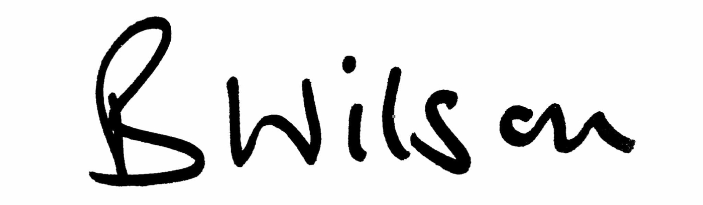 Barry Wilson signature