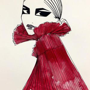 Colombine-red-Belinda-Frikh