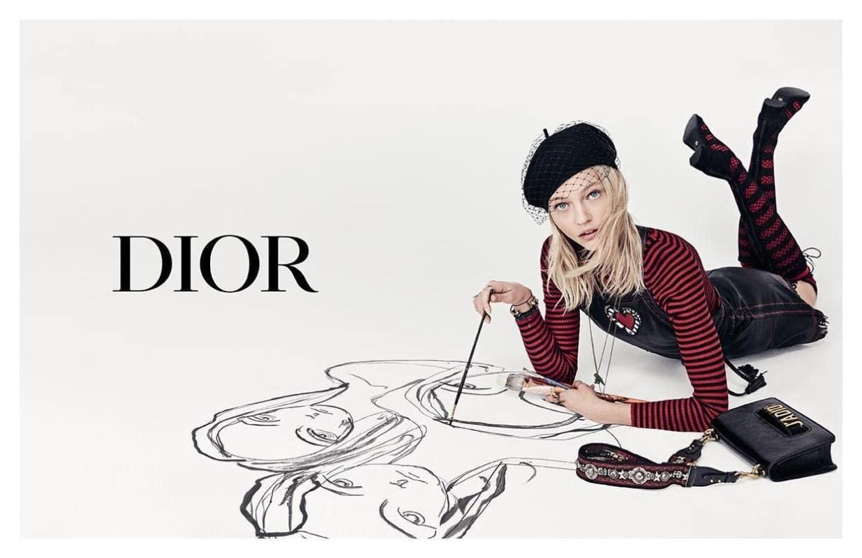 Supermodel and Artist  Sasha Pivovarova for Dior