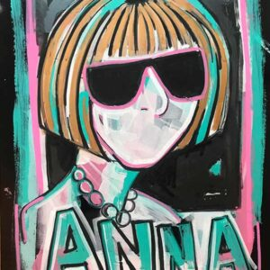 Anna-46x64-500-acrylic-on-black-gloss-paper