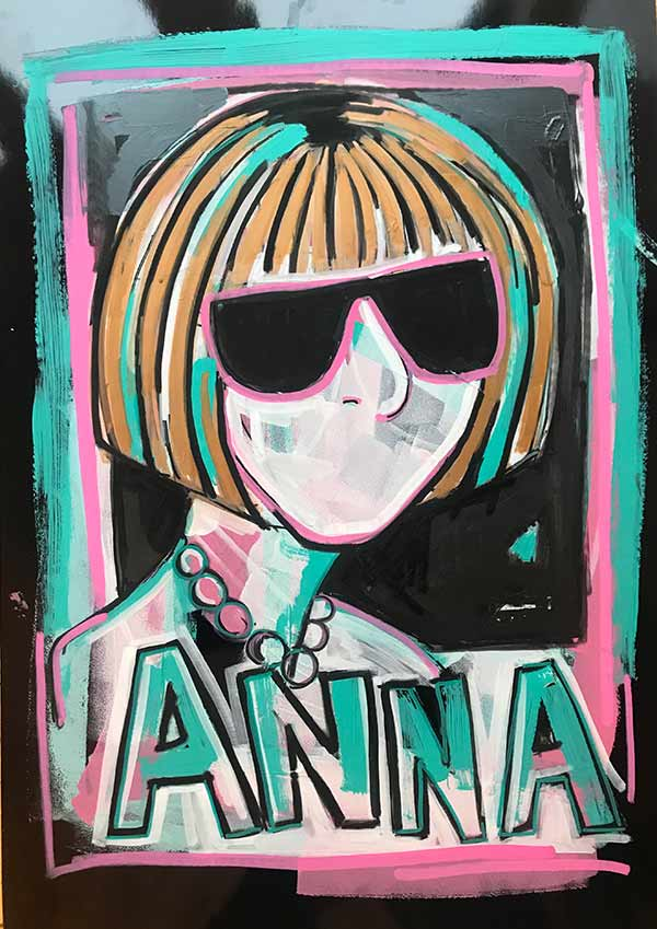 Anna-46x64-500-acrylic-on-black-gloss-paper