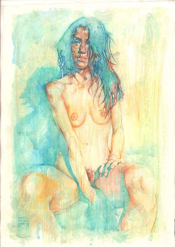 Fiery-Sketch-2019,-by-Bruce-Atherton-30x40cm-Pencil-and-Water-colour-on-Cotton-Rag