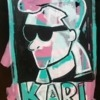 Karl-46x64-500-acrylic-on-black-gloss-paper